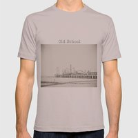 Old School Mens Fitted Tee Cinder SMALL