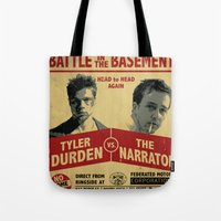 Fight Club Fight Poster Tote Bag
