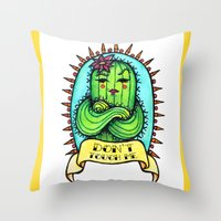 Sassy Cactus Throw Pillow