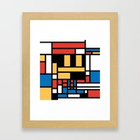 Super Mondrian Framed Art Print
