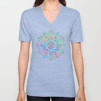 Nature Mandala in Rainbow Hues Unisex V-Neck