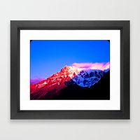 Red Mountain. Framed Art Print