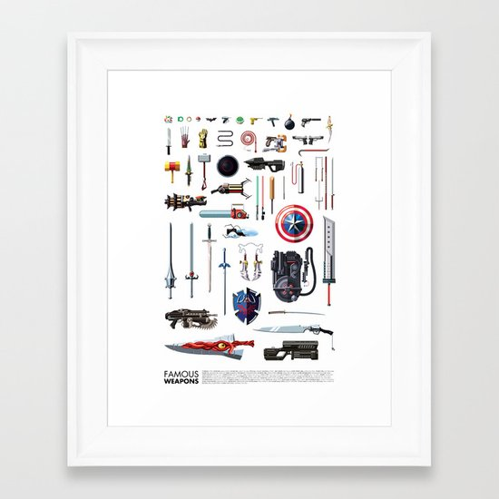 Famous Weapons Framed Art Print