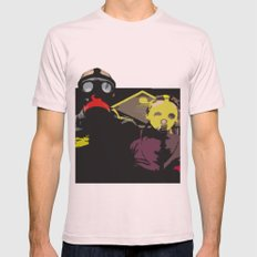 The End of the World Mens Fitted Tee Light Pink SMALL