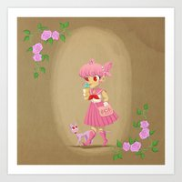 Retro Sailor Chibi Moon Art Print