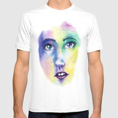 Live for Mardi Gras Mens Fitted Tee White SMALL