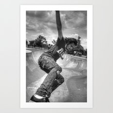 The Skater In The Bowl Art Print
