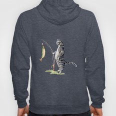 Cat with a Fish Hoody