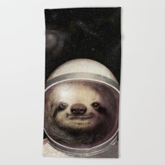 Space Sloth  Beach Towel