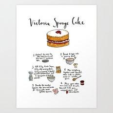 Victoria Sponge Cake Art Print