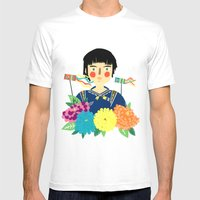 Flower Kite Mens Fitted Tee White SMALL