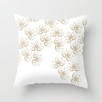 Light Blossoms Throw Pillow