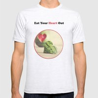 Eat Your Heart Out Mens Fitted Tee Ash Grey SMALL