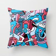 Throw Pillow featuring Last Scupper by Mister Phil