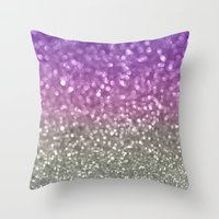 Lilac And Gray Throw Pillow