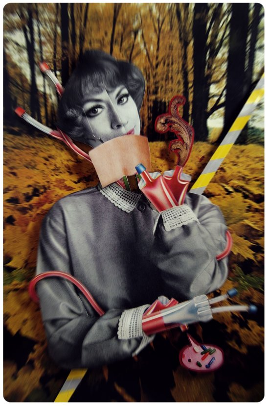 The Fall   Collage Art Print