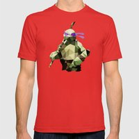 Polygon Heroes - Donatello Mens Fitted Tee Red SMALL