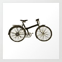 bicycle Art Prints featuring Bicycle by chyworks
