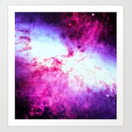 Galaxy Messier 82 Art Print
