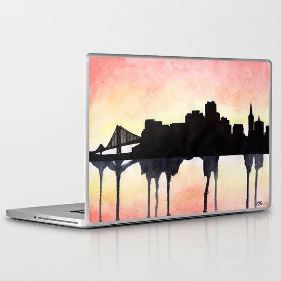 San Francisco Watercolour skyline Laptop & iPad Skin