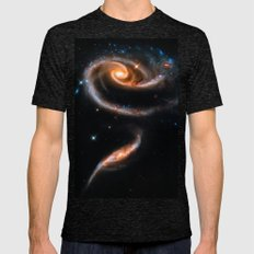 A Rose Made of Galaxies Mens Fitted Tee Tri-Black SMALL