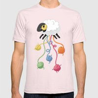 Wool Thread Mens Fitted Tee Light Pink SMALL