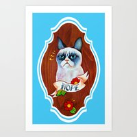 Feline Denial Art Print
