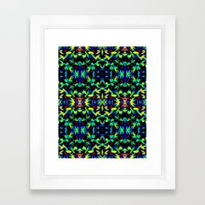 Blue Green Yellow Abstract Art Pattern Framed Art Print