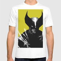 Logan The X-Man Mens Fitted Tee White SMALL