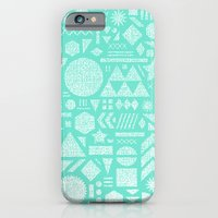 iPhone & iPod Case featuring Modern Elements with Turquoise by Nick Nelson