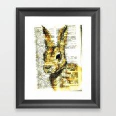 rabbit n. Framed Art Print