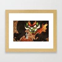 Samurai Jack And Aku Framed Art Print