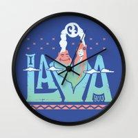 One Lava Wall Clock