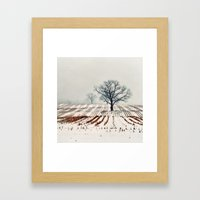 Winter Farm Framed Art Print