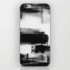 No. 85 Modern abstract black and white painting iPhone & iPod Skin