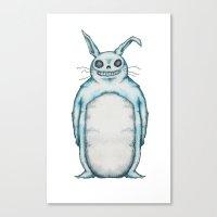 My Neighbor Frank The Bunny Canvas Print