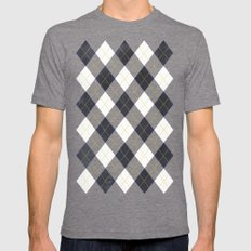 Argyle Mens Fitted Tee Tri-Grey SMALL