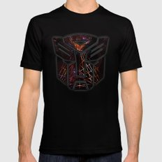 Autobots Abstractness - Transformers Mens Fitted Tee Black SMALL