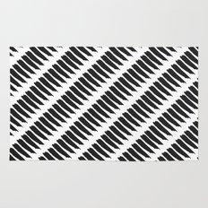 Black and White Tiger Stripes Rug