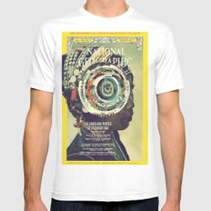 vortex SMALL White Mens Fitted Tee