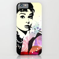 iPhone Cases featuring Audrey Hepburn by sibelyokus