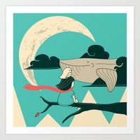 Did You See The Whale In… Art Print