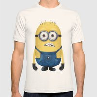 Minion  Mens Fitted Tee Natural SMALL