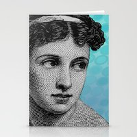 Seductress Blue Stationery Cards