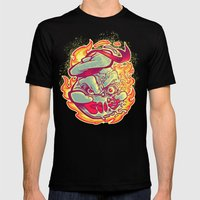 ROASTED MARSHMALLOW MAN Mens Fitted Tee Black SMALL