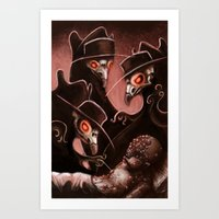 Plague Doctors Art Print