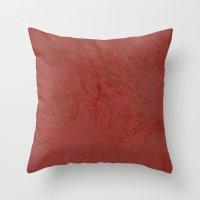 Tuscan Red Stucco Throw Pillow