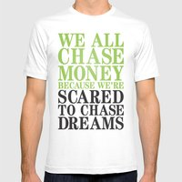 Dreamchaser Mens Fitted Tee White SMALL