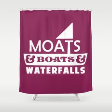 Moats and Boats and Waterfalls Graphic Shower Curtain