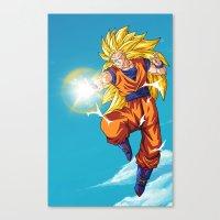 Goku SS3 Canvas Print